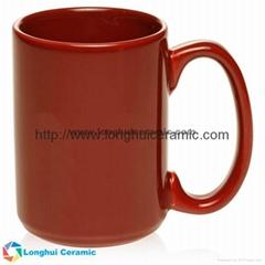 13oz Customized cozy cafe au lait ceramic mug15oz Chic large glossy color custom