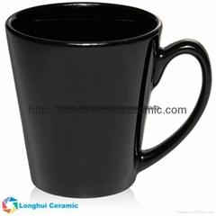 12oz Glossy color glaze ceramic Latte promotional coffee mug