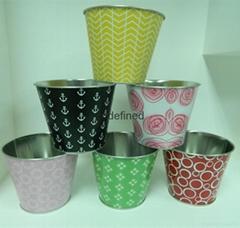 圓形花盆鍍鋅鐵水桶