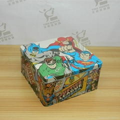 Square moon cake gift storage cans