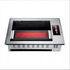 韓式遠紅外線方形下排煙燒烤爐