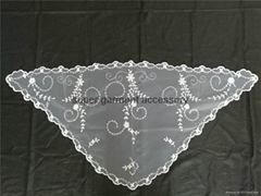 Polyester cheap triangle mantilla lace