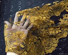 Yellow Embroidery Spanish Lace Mantilla