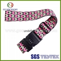 Custom promotion polyester material printed digital lock suitcase luggage strap 5