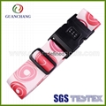 Custom promotion polyester material printed digital lock suitcase luggage strap 1