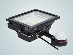UL FCC CE RoHS SAA Listed 50W PIR Infrared Motion Sensor LED Floodlight