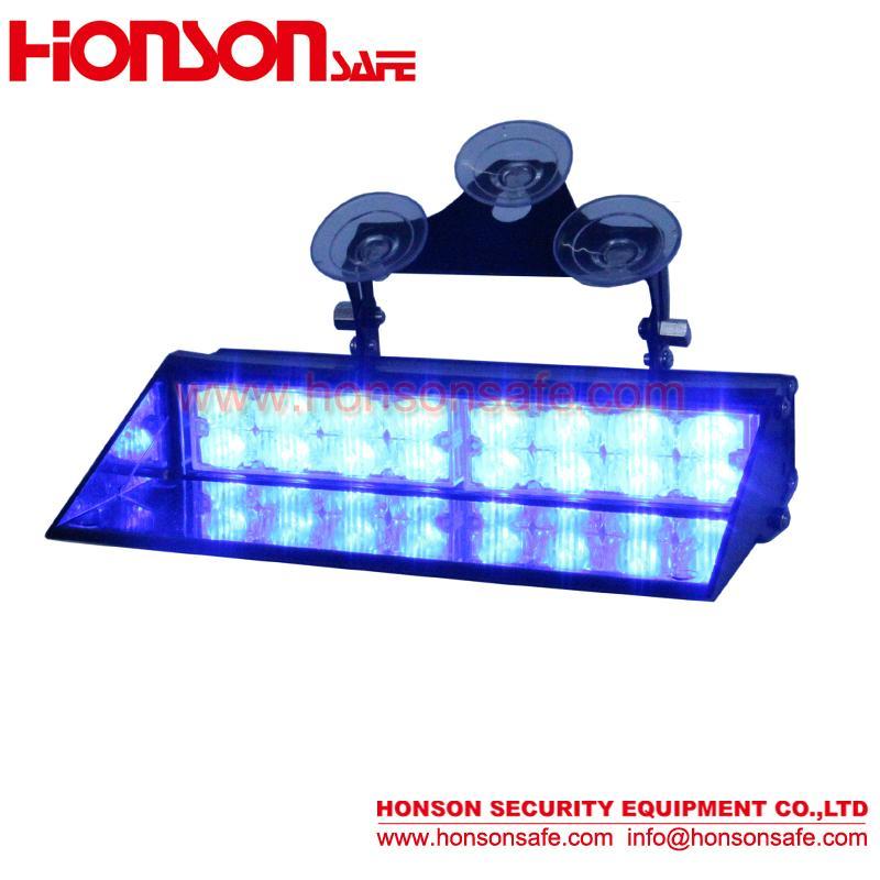 Amber Blue LED Warning Visor Dash Windshield Emergency Light for Police Vehicle  1