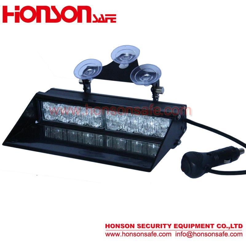 Amber Blue LED Warning Visor Dash Windshield Emergency Light for Police Vehicle  2