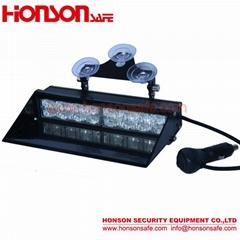 Amber Blue LED Warning Visor Dash Windshield Emergency Light for Police Vehicle