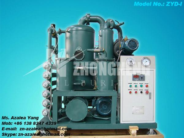 Series ZYD-I Double-stage Vacuum Insulating Oil Regeneration Purifier 1