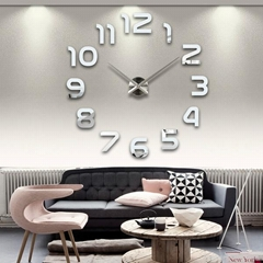3d diy  wall sticker clock for home decoration