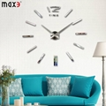 Silver color wall watch for home decor