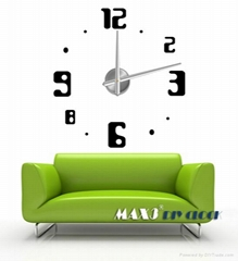3D Frameless Large Wall Clock