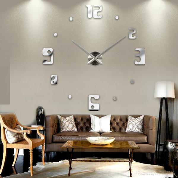3D Frameless Large Wall Clock  2