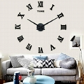 Wall sticker clock for home decoration