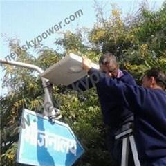 8 W montion sensor solar lights for garden