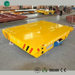 30t steel plant apply electric motorised rail transfer trolley on steel rail