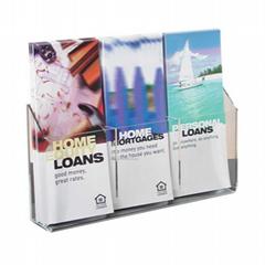 Promotional modern design clear acrylic brochure display rack