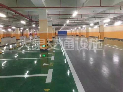 深圳停車場熱熔劃線划字 5