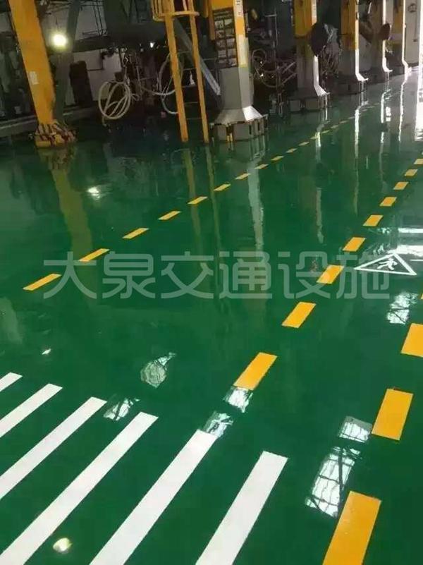 深圳地下車庫劃線 3