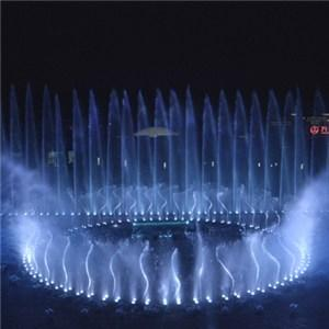 Beautiful Water Fountain Show In The Theme Park 1