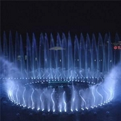 Beautiful Water Fountain Show In The Theme Park
