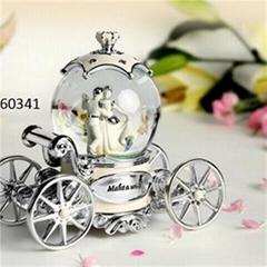 Cinderella Snow Globe Music Boxes