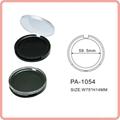 Empty plastic compact powder case