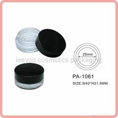 cosmetic jar plastic jar single eyeshadow palette