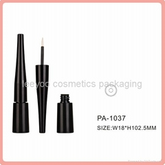 black empty liquid eyeliner bottle plastic cosmetic packaging eyeliner tube