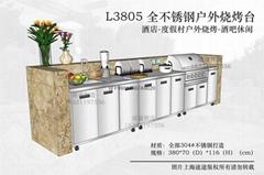 L3805美诺仕全不锈钢户外烧烤台