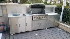 金石澜岸整体不锈钢户外烧烤台不锈钢厨房设备