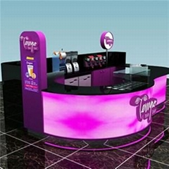 Indoor Bubble Tea Kiosk Display