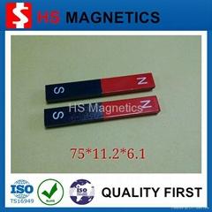 【廠家直銷】鋁鎳鈷高質量教育磁鋼F75x11.2x6.1mm