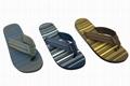 EVA sole PVC strap flip flops with low