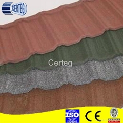 Building Materials Stone Coated Metal Roofing Tile