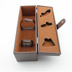 Single Bottle Wine Box PU Leather Cover