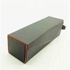 Single Bottle Folding Wine Box PU Leather