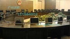信息化会议室液晶屏可升降会议桌