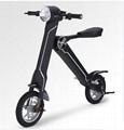 Black Electric Bicycle Folding 35km/h Load 150kg Foldable Bike  1
