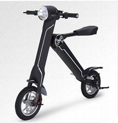 Black Electric Bicycle Folding 35km/h Load 150kg Foldable Bike
