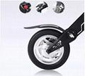 Black Electric Bicycle Folding 35km/h Load 150kg Foldable Bike  4