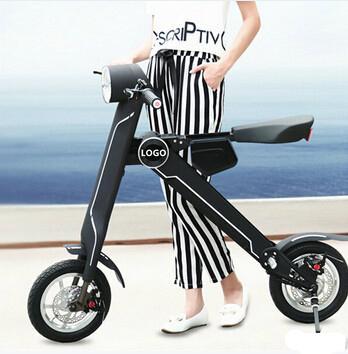 Black Electric Bicycle Folding 35km/h Load 150kg Foldable Bike  2