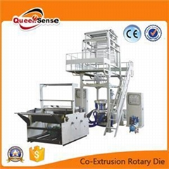 Double-Layer Co-Extrusion Rotary Die Film Blowing Machine Set