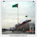 electric motorized 30m stainless steel flagpole