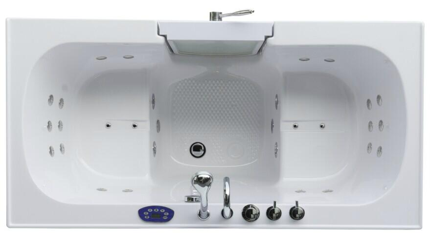 Two Seat Dual Massage Walk In Tub K102 Zink China