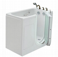 Safety tub outward swing door wlak in tub K112