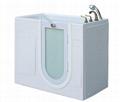 Safety tub outward swing door wlak in tub K112