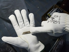 Alif Cut Pro Goat Grain Leather Driver Style ANSI A4 Cut Resistant Gloves.