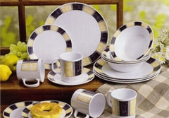 16PCS DINNER SET WITH RE